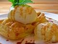 料理メニュー写真焼きたてアップルパイ バニラアイス添え