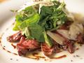 料理メニュー写真和牛イチボのタリアータ