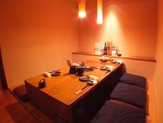6名様でご利用できる個室もご用意。接待やデートなどに。