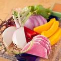 料理メニュー写真契約農家直送!旬野菜の和風チーズフォンデュ