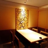 4人席の個室は接待やお食事会でのご利用が多く人気のお席となっております