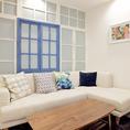 白を基調とした爽やかな空間は女子会にもぴったり!
