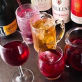約100種OKの飲み放題!生ビールはプレミアムモルツでご用意。他にも各種ハイボール・ワイン・サングリア・カクテル・果実酒・ソフトドリンクなど充実のラインナップで女性の方にもご好評です!専用サーバーで入れる超炭酸しゅわしゅわのハイボールもおすすめ☆
