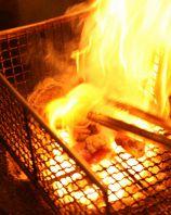 炭火で豪快に炙り焼き!