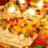 【誕生月特典】メッセージ入りデザートプレート贈呈♪