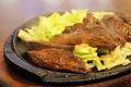 料理メニュー写真焼肉定食/Japanese B,B,Q beef served with rice and miso soup
