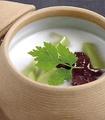 料理メニュー写真ぷるるん抹茶のココナッツミルク