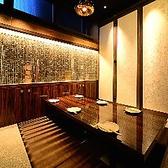 《掘りごたつ個室≪4~6名様用》完全個室を多彩に完備!自慢の鉄板焼がくつろぎのプライベート空間でゆっくりお愉しみ頂けます★合コンや、会社でのご宴会にどうぞ!☆2~6,7~12,13~24,25~50名様各種完全個室有り。最大250様宴会可能です☆