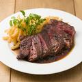 料理メニュー写真アンガス牛のステーキフリット 赤ワインとローストガーリックのソース