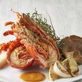 料理メニュー写真活オマール海老のポワレ 茸のソテー添え 半身