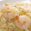料理メニュー写真ぷりぷり海老の葱塩炒飯(塩)