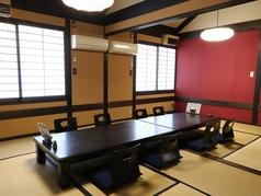 ≪2F≫二階はお座敷テーブル個室。最大20名様まで御案内。接待、ご家族でお食事に落ち着いた雰囲気の中でお愉しみ頂けます。