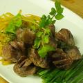 料理メニュー写真砂肝のニラもやし炒め