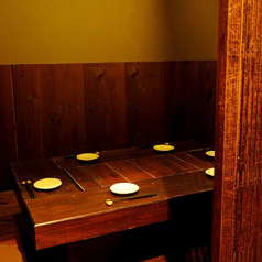 【1F里の間】4名様用のお席です。プライベート感も演出。