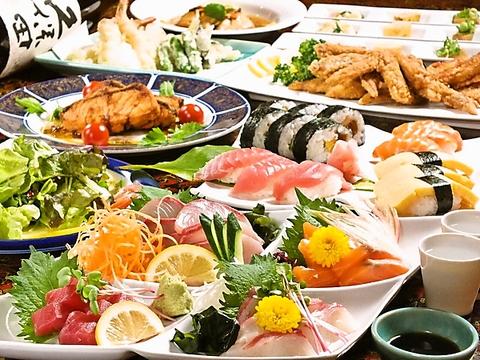 厳選された素材のお寿司を気軽に味わえる。寿司だけじゃなく洋食の創作料理も抜群。