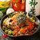 胡麻醤油の海鮮サラダ