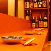 【デートや記念日に】横並びで仲良くカウンター席、和モダンな個室で2人きりの空間…どちらもご要望承ります。