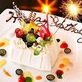 料理メニュー写真誕生日記念日特典★メッセージプレート♪♪
