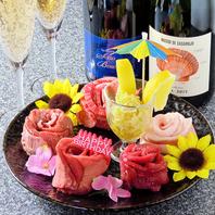 【デートや誕生日に】特製肉ロールプレートでおもてなし
