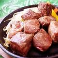 料理メニュー写真A5 最高級 黒毛和牛のステーキ (約85g)