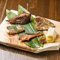 西京味噌・吟醸粕・こだわり醤油・田舎味噌・魚醤・火山灰・塩麹・三升漬け・塩干・ハーブ等、その鮮魚に合う様々なバリエーションの漬け方で焼き魚の新しい食べ方をご提案致します。