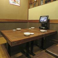個室や堀ごたつ席、テーブル席等様々な空間を完備。