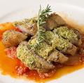 料理メニュー写真認定山形豚の厚切り香草パン粉焼き カポナータソース