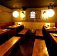 20名様用半個室の宴会スペース。