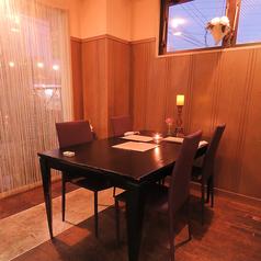 4名様用の半個室です★こちらは他のお席と少し離れているため、デートにもオススメです。