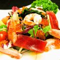 料理メニュー写真本日の鮮魚のカルパッチョ海の幸/健康ゴーヤくらげサラダ