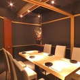 テーブル完全個室(壁 扉あり)