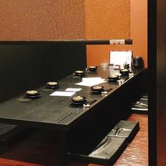 ゆっくりお寛ぎ頂けるお座敷席は、最大20名様までご利用可能!小・中宴会にもおすすめです。