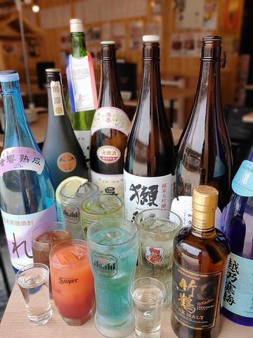 【プレミアム飲み放題】当日OK!!たっぷり120分!!地酒、生ビール、ビアカクテルも飲み放題!!