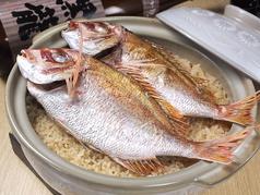 料理メニュー写真「鯛」土鍋飯 (2人前・4人前)