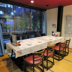 2階テーブル個室です。