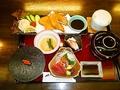 料理メニュー写真鯵フライ御膳【お刺身・ご飯・赤出汁・茶碗蒸し・小鉢一ヶ・漬物・アイス 付】