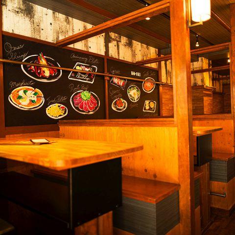 総合席数なんと210!温かみのある和の空間和食と肉バルを合わせた新業態の居酒屋です♪宴会、誕生日会、結婚式2次会・合コンに♪神田でのご宴会はお任せください!