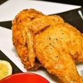 料理メニュー写真若鶏の半身揚げ