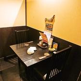 デートにぴったりの2名様用テーブル個室です。
