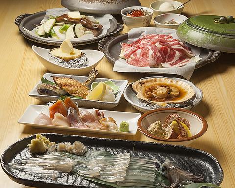 天然海鮮・北海道素材を堪能できるコース料理各種ご用意!2名様~(写真はイメージ)
