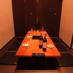 6名様の完全個室掘りごたつ席。