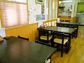 テーブル席は人数に応じてご案内いたします。テーブル4人用×4、8人用×1