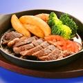 料理メニュー写真牛ロースステーキ 和風りんごソースで