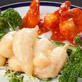 料理メニュー写真豚スペアリブの柔らか煮込み/海老チリソース/牛肉とオイスターソース炒め/八宝菜
