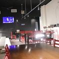 1Fにはスクリーン3台完備!22時以降はカラオケ利用出来ますので広い会場でライブ感覚のカラオケもお楽しみいただけます!