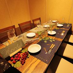 中規模の宴会もお任せ下さい!ご利用人数に合わせた快適な個室席へご案内します。自慢のバル料理をご堪能いただける飲み放題付きコースも多彩にご用意しております。周りを気にすることなくお楽しみいただる完全プライベート空間は、女子会はもちろん記念日や誕生日のお祝いにもおすすめです。スタッフ一同お待ちしてます!