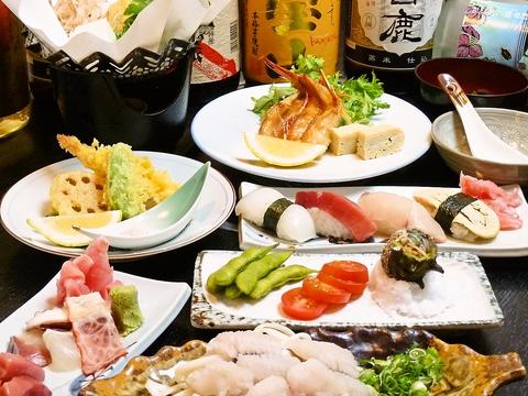 寿司やお造りを中心に、毎日新鮮なネタがリーズナブルに味わえる、落ち着いた和食処♪