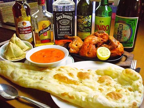 本場インドのナンが楽しめるインド料理店、辛い物が苦手でも美味しく食事ができる。
