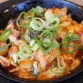 料理メニュー写真ピリカラ豚キムチーズ