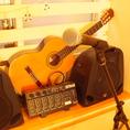ギターなど楽器演奏、マイクのご利用など宴会・パーティーに必須な設備充実!!